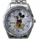 NEW Disney Men's Mickey Mouse Silver Watch HTF