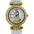 NEW Ladies Disney Beauty and The Beast Pearl Watch HTF