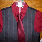 NWT Boys 4 Piece Plaid Vest Dress Shirt Tie Pant Set Size 5