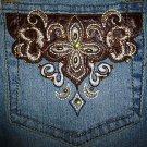 Ladies Angels Embellished Jeans Juniors Size 9