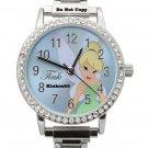 NEW Disney Tinkerbell Rhinestones/Jewels Silver Watch HTF