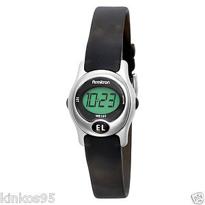 NEW Armitron Ladies Instalite Black Digital Sport Watch