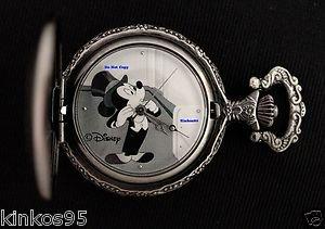 NEW Disney Mickey Mouse Minnie Limited Edition Tuxedo Pocket Watch HTF