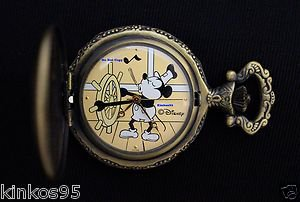 NEW Disney Mickey Mouse Limited Edition Steamboat Willie Pocket Watch HTF