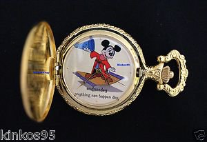 """Disney Mickey Mouse Limited Edition 'Wednesday"""" Sorcerer Fantasia Pocket Watch"""