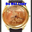 NEW Disney Mickey Mouse Fantasia Sorcerer Gold 22KT Watch HTF