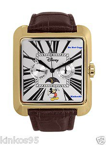 NEW Men's Disney Mickey Mouse Moon Phase Multifunction Watch HTF