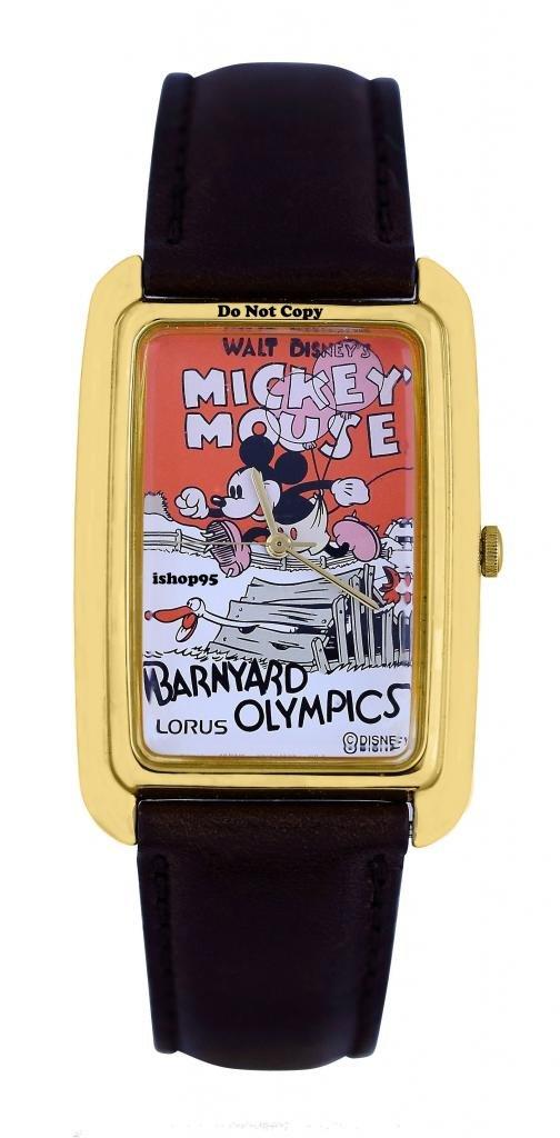 NEW Disney Lorus Mickey Mouse Barnyard Olympics Watch HTF
