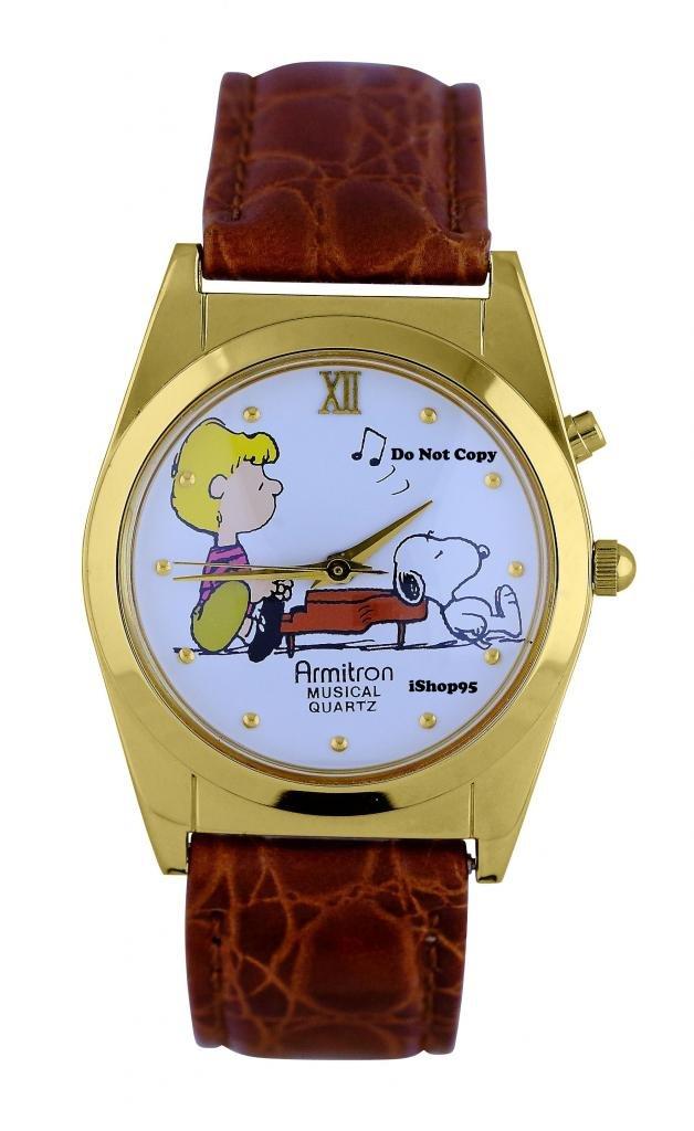 NEW Armitron Peanuts Snoopy & Schroeder Musical Watch HTF