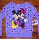NWT Disney Minnie Mouse Mickey Mouse Girls Sweatshirt