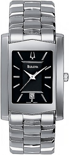 NEW Men's Bulova Black Dial Date Collection Watch