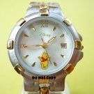 NEW Disney SII Winnie The Pooh with Date Two Tone Watch HTF