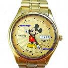 NEW Men's Disney Mickey Mouse SEIKO Starburst Date Day SPORTS Watch # 22