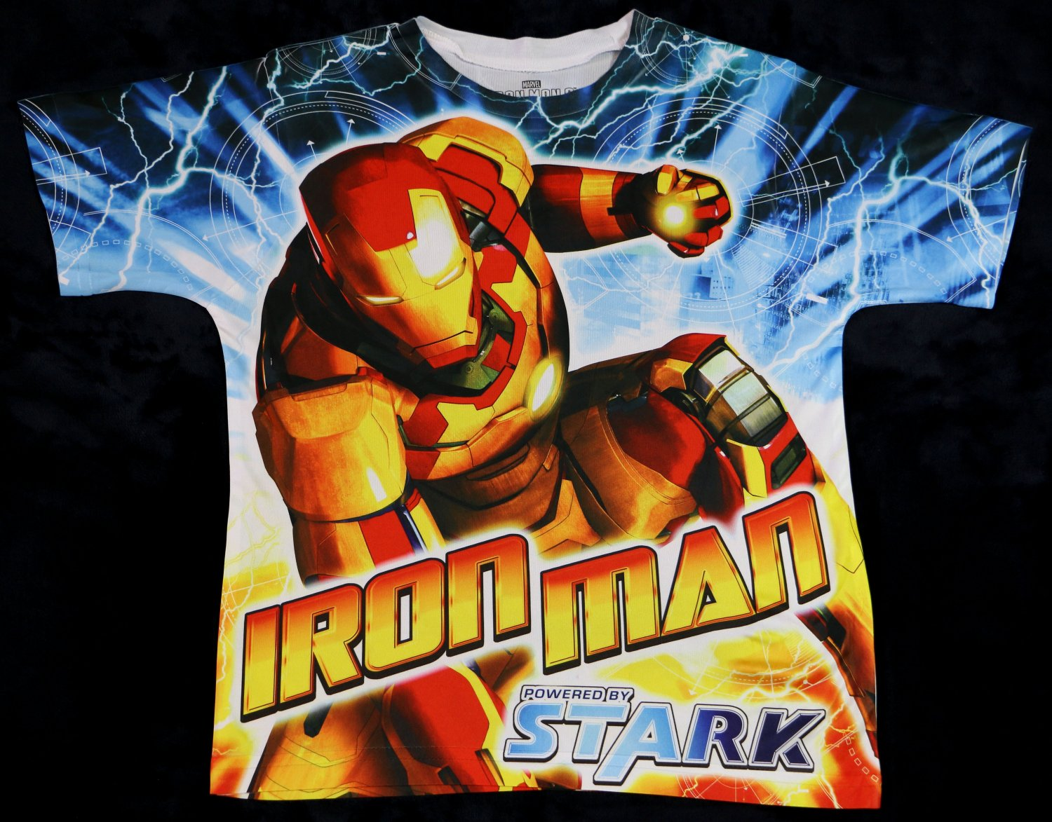 NEW Marvel IRON MAN 3 Powered by Stark T Shirt Size S (6/7)
