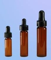 (144 ct) 1 Dram (4 ml) Amber Glass Vials with Droppers (Empty)