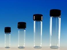 (144 ct) 2 Dram Clear Glass Vials w/ Polypropylene Caps - Wholesale Glass Vials