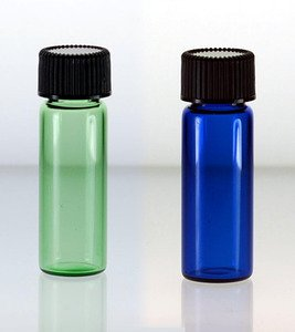 (72 ct) 1 Dram Size (4 ml) Green Glass Vials with Foam Lined Caps - Wholesale Vials