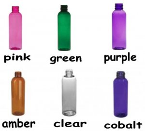 Wholesale Bottles (72 ct) 4 oz Multi Color Plastic Bottles with Non-Dispensing Black Caps