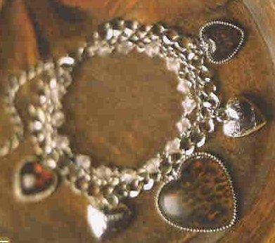 NEW LEOPARD HEART CHARM BRACELET ( # 39520)