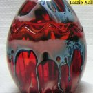 Red Easter Egg Glass Candle Holder