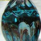 Greenish Blue Easter Egg Glass Candle Holder
