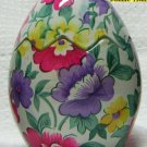 Floral Easter Egg Glass Candle Holder