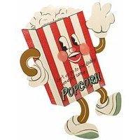 Popcorn Dancing Figure Metal Sign