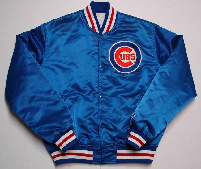 Chicago Cubs Satin Jacket by Starter Mens Medium