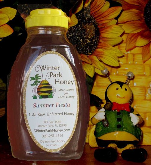 1 Lb Summer Fiesta Honey (raw, unfiltered and unprocessed)