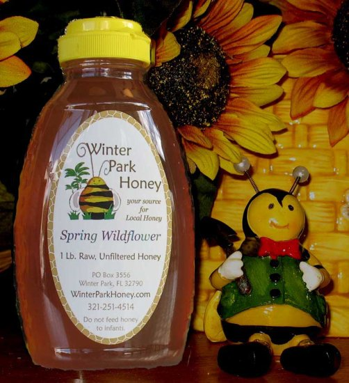 16 oz Spring Wildflower Gold Honey (raw, unfiltered and unprocessed)