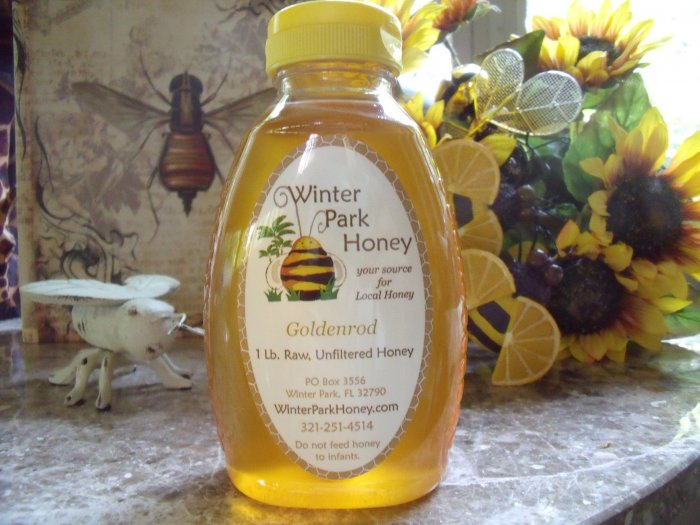 16 oz Goldenrod Honey (raw, unheated and unprocessed)