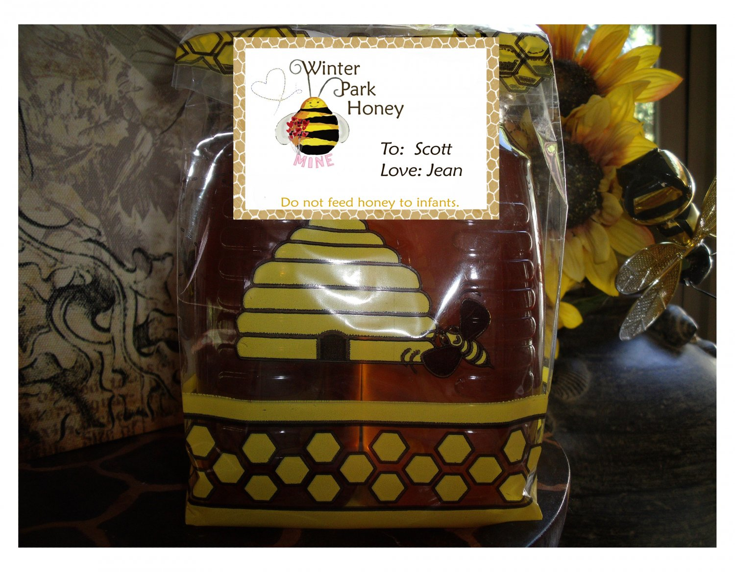 Valentines Special (Raspberry and Blackberry Twist in personalized bee bag)