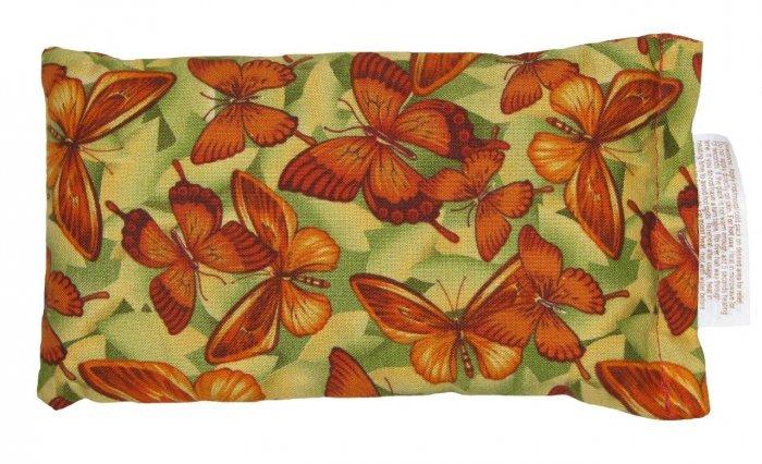 Green with orange butterflies