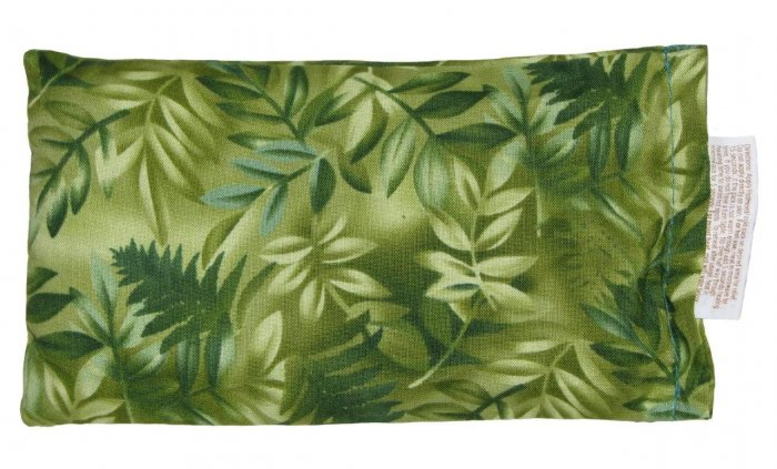 Green with tropical leaves