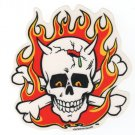 Flaming Skull Sticker (S-133)