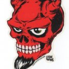 Devil Skull Sticker (S-39)