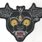 Panther Head Embroidered Patch (p-313)