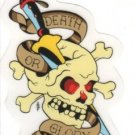 Small Death or Glory Sticker (S-401)
