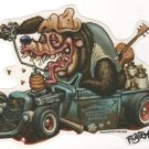 Hot Rod Bear Sticker (S-11)