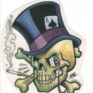 Small Top Hat Skull Sticker (S-449)