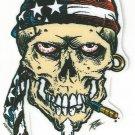 Small American Skull Sticker (S-431)