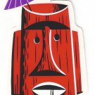 Small Red Tiki Mug Sticker (S-444)