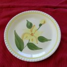 Blue Ridge Luncheon Plate Yellow Flower Piecrust Edge