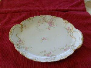 Theodore Haviland Platter Limoges France pink roses