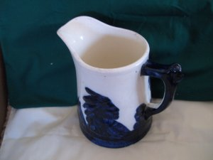 Old Sleepy Eye Stoneware Pitcher-Monmouth Illinois