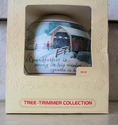 Hallmark 1980 Tree-Trimmer Ornament:  Grandfather.