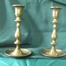 Brass Candlesticks  Matching Pair Vintage