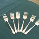 Sterling Silver Flatware International Six dessert/salad forks New Rosalind pattern
