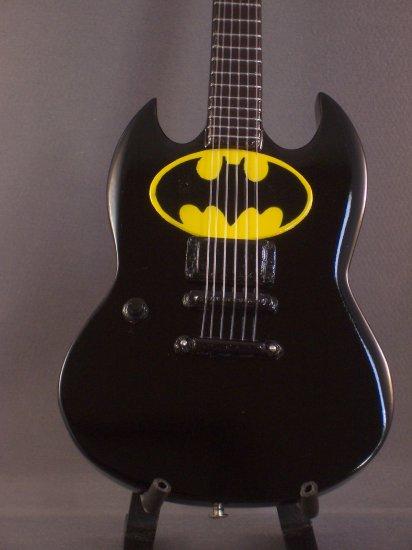 BATMAN Mini SG Guitar Memorabilia Collectible Gift