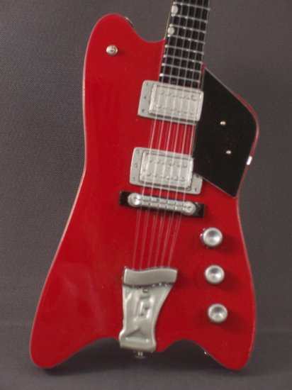 ZZ TOP BILLY GIBBONS Famous Mini Red Guitar 'JUPITER'  Collectible Gift